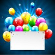 Modern colorful birthday background — Vettoriali Stock