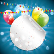 Modern colorful birthday background — Stockvectorbeeld