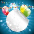 Modern colorful birthday background — Imagens vectoriais em stock