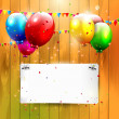 Birthday background — Imagen vectorial