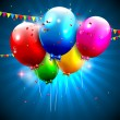 Modern colorful birthday background — Stockvektor