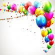 Modern colorful birthday background — Vector de stock #26567549