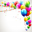 Stock vektor: Modern colorful birthday background