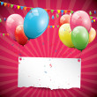Stock Vector: Birthday background