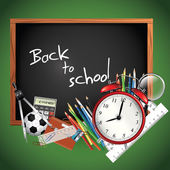 Back to school - Vector background — Cтоковый вектор