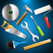 Hulpmiddelen van de bouw — Stockvector