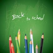 School blackboard with pencils - vector background — Stock Vector