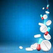 Niebieskie tło medyczne — Wektor stockowy