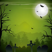 Green Halloween background — Stock Vector