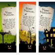 Stock Vector: Halloween vertical banners