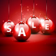 Christmas sale red background — Imagen vectorial