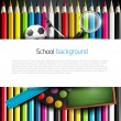 Colorful school background — Stock vektor