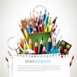 Back to school - Vector background — Vector de stock