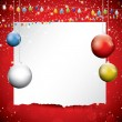Christmas background with place for text — Imagen vectorial