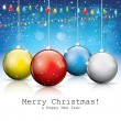 Colorful christmas balls — Imagen vectorial