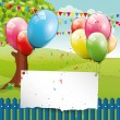 Birthday glossy background — Stock Vector
