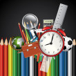 Stock vektor: Colorful school background