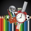 Vetorial Stock : Colorful school background