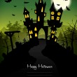 Green Halloween Background — Image vectorielle