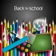 Colorful school background — Imagens vectoriais em stock