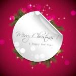 cartão de saudação de Natal vermelho — Vetorial Stock