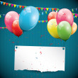 Modern birthday background with place for text — Stock Vector