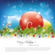 Christmas greeting card — Stock Vector #26577795