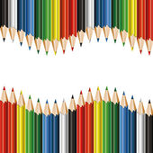 Colorful pencils background — Stock Vector