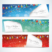 Christmas horizontal banners — Stock Vector