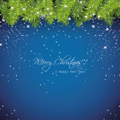 Christmas blue snowy background — Stock Vector
