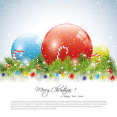 Colorful christmas balls — Stock Vector