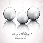 銀のクリスマス背景 — ストックベクタ