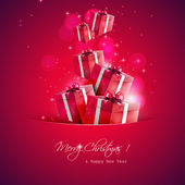 Christmas gifts - vector background — Stock Vector