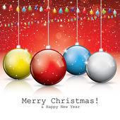 Colorful christmas balls — Stock Vector