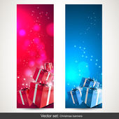 Christmas vertical banners - vector set — Stock Vector
