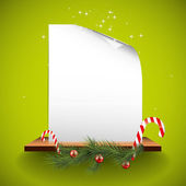 Green Christmas greeting card with empty — Stock Vector