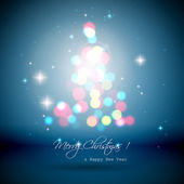 Christmas blue bokeh background — Stock Vector
