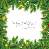 Christmas needles background — Stock Vector