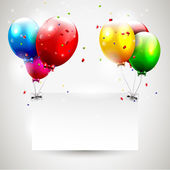 Modern birthday background with place for text — Cтоковый вектор