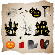 Halloween elements — Stock Vector #26582563