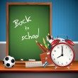 Back to school - Vector background — Imagens vectoriais em stock