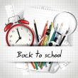 Back to school background — Vector de stock #26583693