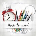 volta para o fundo da escola — Vetorial Stock