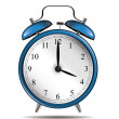 Blue vintage alarm clock — Stock Vector #26583855