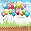 Colorful birthday background — Vector de stock #26584227