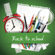 back to school background — Stock Vector