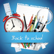 Back to school background — Vettoriali Stock