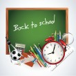 Back to school - colorful vector background — Stock Vector