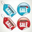 Stock Vector: Christmas sale stickers and tags