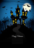 Halloween night - vector background — Stock Vector